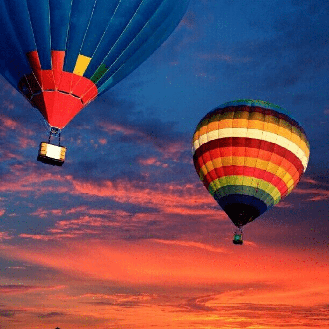 Hot air balloon ride sunrise tour